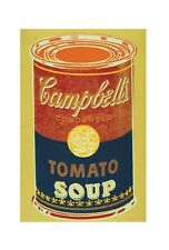 Andy Warhol Colored Campbell's Soup Can yellow & blue Poster Kunstdruck 36x28cm