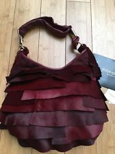 YSL Yves Saint Laurent Tom Ford Pony Hair Burgundy St Tropez Handbag Purse NWT!