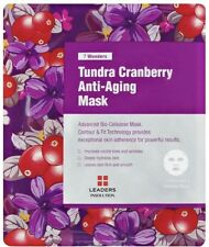 7 WONDERS By LEADERS Tundra Cranberry Anti Aging Bio Cellulose Mask; 1PC Sealed!