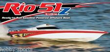 AquaCraft Rio 51Z Off-Shore 2.4 Zenoah R/C Gas Boat With Zenoah G260PUM AQUB41