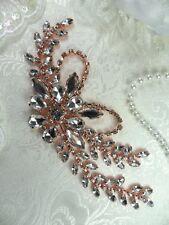 """Rose Gold Embellishment Crystal Rhinestone Applique Metal 7.5"""" (XR119-rsglcr)"""