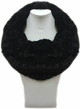 Women Ladies Soft Quality Fur Double loop Winter Warm Style Snood Scarf