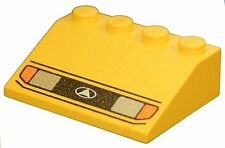 Missing Lego Brick 3297px14 Yellow Slope Brick 33 3 x 4 with Headlights Pattern