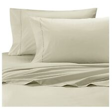 Wamsutta Cool Touch Percale Ivory Twin XL Fitted Sheet 100% Egyptian Cotton