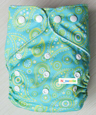 New Baby Infant boy Girl Green Cloth Diaper One Size Reusable Nappy Cover K04
