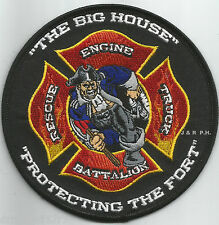 "Fort Wayne  Station - 1, IN  ""Big House""  (4.5"" round size) fire patch"