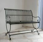 FRENCH DESIGN classical black garden bench outdoor wrought iron QUALITY