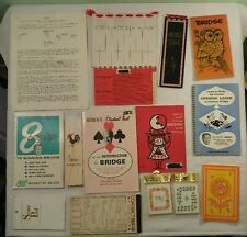 Large Mixed Lot of Vintage Bridge Score Pads / Tally Sheets and How To Manuals