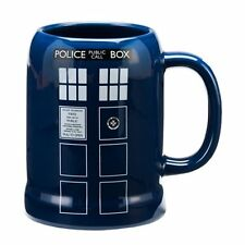 Doctor Who TV Series Tardis Image 20 oz Ceramic Stein Mug NEW UNUSED