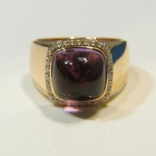 Fred of Paris Pain de Sucre 18k Rose Gold Amethyst and Diamond Ring Size 6.5 NIB