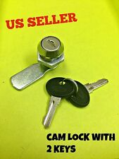 Cam Lock File Cabinet Mailbox Desk Drawer Cupboard Locker with 2 Keys 90°