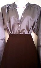 Ladies Long Satin Shirt/ Blouse size  20/22 Downton Abbey TV CD TS