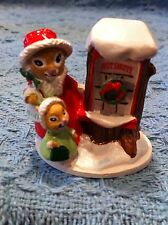 """NEW AVON GIFT COLLECTION FOREST FRIENDS """"SHOPPING FOR TREATS"""" MINI FIGURINE"""