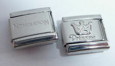 PRINCESS & CROWN 9mm Italian Charm + 1x Genuine Nomination Classic link Silver