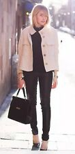 Rare! Size S NWT ZARA LINEN COTTON BLAZER WITH FLAP POCKETS JACKET