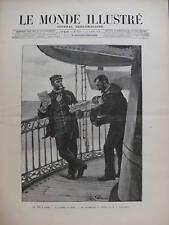 MONDE ILLUSTRE 1892 N 1856 LA VIE A BORD LE VAGUEMESTRE