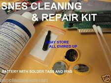 Super Nintendo SNES Cartridge Repair Kit Security Bit Save Game Cleaning Fix