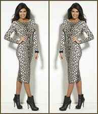 BNWT BY YOURSTYLE TG MIDI DRESS ANIMAL PRINT SIZE 10 - NEW