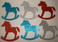 Die-cut shapes Glitter Rocking Horses pack of 6 AccuCut shapes