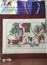 CROSS STITCH CHART Handbags and Hounds Home Design Dog PATTERN ONLY