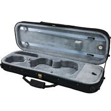 Classic 3/4 Violin Oblong Case. Black/Grey. Lightweight Shoulder and Back Strap