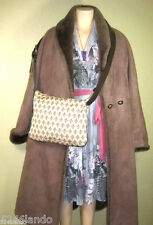 Patrick COX Canvas Monograms & Leather Hobo Sling Messenger Shoulder Bag