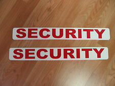 "RED 2 SECURITY Magnetic Signs 3""x24"" Police Constable 1 Pair 4 Car Truck SUV"