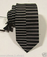 "Emporio Armani Men's Black Striped Slim Tie 2"" Wide 57"" Length"