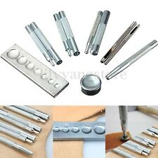 11PCS Craft Tool Die Punch Snap Rivet Setter Base Kit For DIY Leather Craft Tool