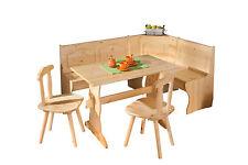 Coin repas Table rectangulaire chaise banc banquette meuble cuisine bois NATUREL