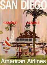 """American Airlines 8.5' X 11""""  Travel Poster  - [ SAN DIEGO ]  -"""