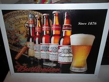 BUDWEISER/BUD  (SINCE 1876 ), METAL WALL SIGN 40X30CM,BEER/PUB/BAR/KITCHEN