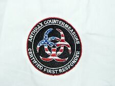 Antrax Countermeasure Certified First Responder Shirt NWT w/Patch Zombie