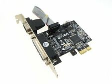 PCI-E PCI Express Parallel LPT Serial Port Card DB25 DB9 RS232 mach3 mach2
