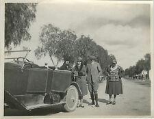 PHOTO ANCIENNE - VINTAGE SNAPSHOT - VOITURE AUTOMOBILE DÉCAPOTABLE MODE - CAR