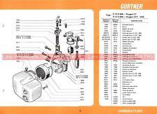 PEUGEOT CT VCT VRS BBV BBVT : Fiche Carburateur GURTNER