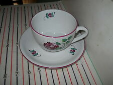TIFFANY STRASBOURG FLOWERS BREAKFAST CUP AND SAUCERS
