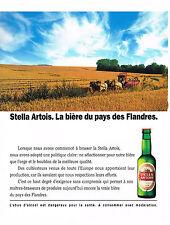 PUBLICITE  1990   STELLA ARTOIS  bière du Pays des Flandres