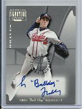 "2001 NOTABLE NICKNAMES HOF GREG ""BULL DOG"" MADDUX AUTO #D53/100 ATLANTA BRAVES"