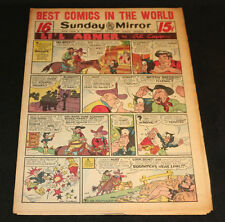 1951 Sunday Mirror Weekly Comic Section December 9th (VG+) Superman Schmoo