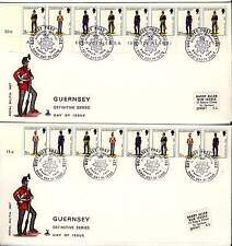 Guernsey 1974 Military Uniforms First Day Covers