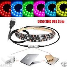 Multi-colour RGB 1-2M LED Strip Light TV Background Lighting Kit + Controller