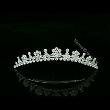 Bridal Rhinestone Crystal Flower Girl Bridesmaid Wedding Tiara Hair Comb 8563