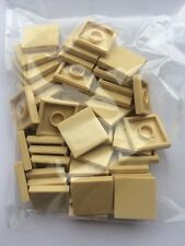 LEGO 50 x SAND/TAN FLAT TILES BRICKS 2 x 2  STAR WARS/MODULAR GENUINE/BRAND NEW