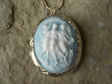 *(LOCKET)--3 STUNNING DANCING WOMEN, ANGELS, MUSES CAMEO LOCKET!!! QUALITY!!!