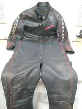 VINTAGE YAMAHA SRX VMAX MAXIM WEAR LEATHER SNOWMOBILE BIBS & JACKET SUIT LT