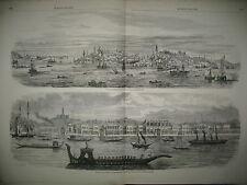 TURQUIE CONSTANTINOPLE PALAIS SULTAN DOLMA-BAKTCHE TERRE-NEUVE PECHE MORUE 1858