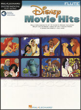 Disney movie hits pour flute play-along sheet music book with audio roi lion