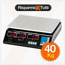 BILANCIA MAX 40 KG DIGITALE ELETTRONICA PROFESSIONALE ACCIAIO GRAMMI CHILO CHILI