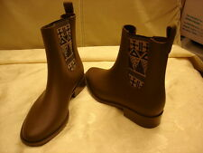 mel Dreamed by melissa Brown Women's Rain Boot Size 8